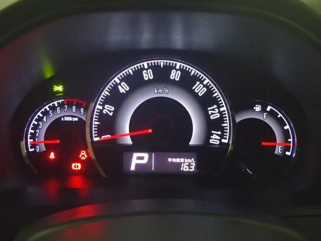 燃費計付メーターパネル。瞬間燃費などを確認しながら運転もできます。