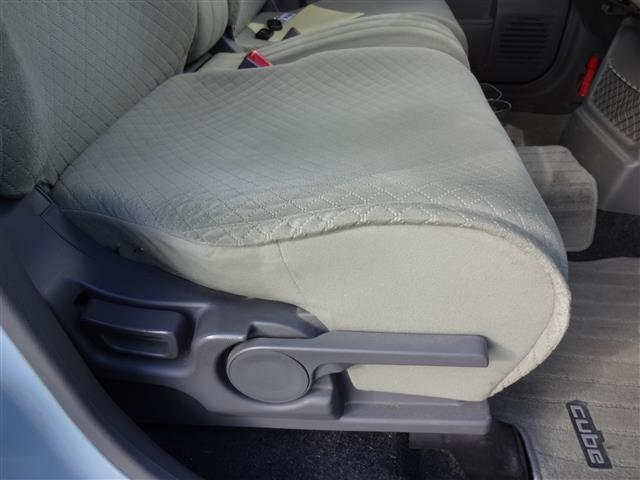 シートスライド。シートの上下。リクライニングのできるシートで自分に合ったポジションに♪
