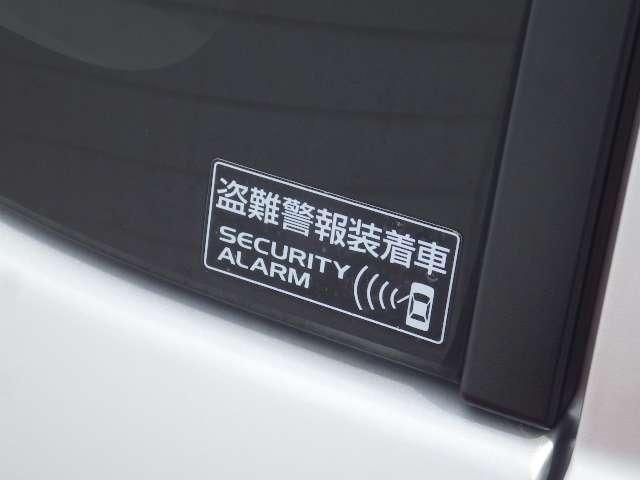 付いてて安心の盗難警報装着車です。
