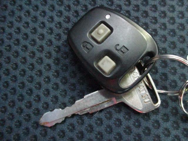 キーレス&盗難警報装置付です。
