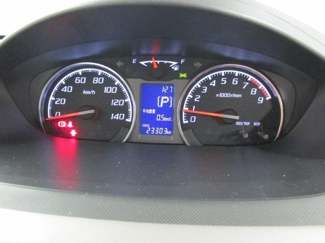 アイドリングストップ積算時間や平均燃費も表示できます。