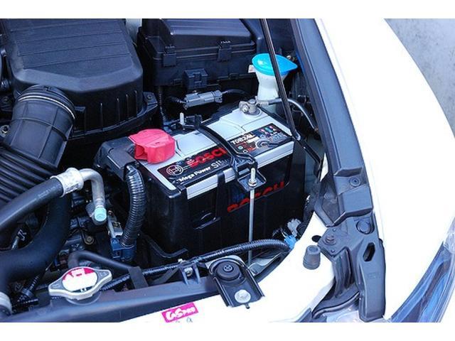 当店ではお客様にご安心してお買い上げいただくためにご成約していただいた全車両にバッテリー、オイル、エレメント交換を実施しております!