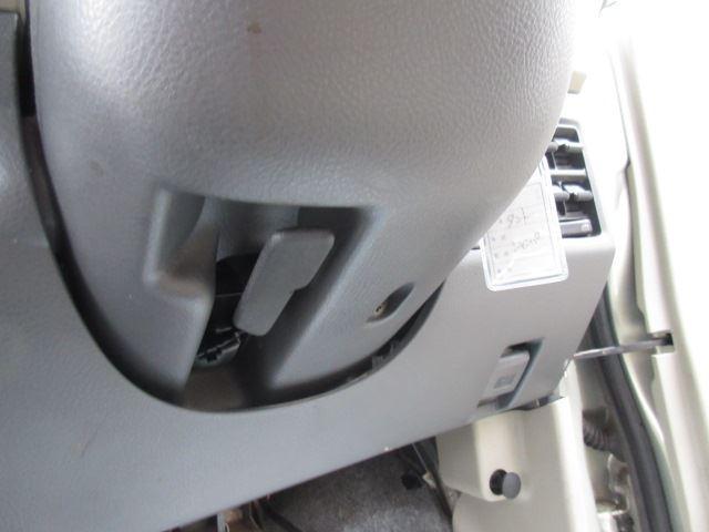 ハンドルにレベライザーが付いていて上下できて、大柄な方もスペースが広がりますよ!!