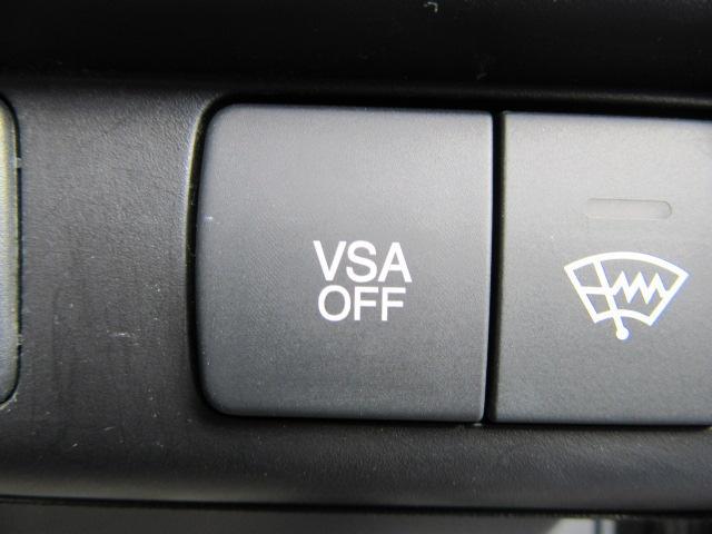 横滑り防止機能(VSA)付きです。トラクションコントロール機能も付いております。