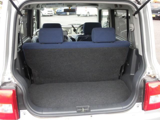 後部座席次第で、さらなる荷室も確保可能です!