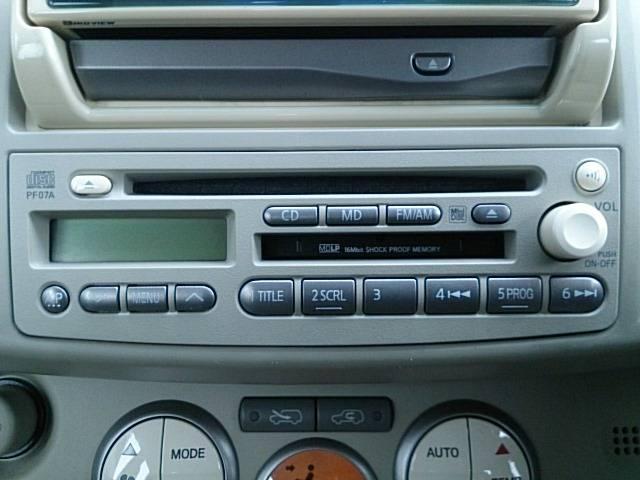 オーディオは純正CD&MDコンポとなります!!
