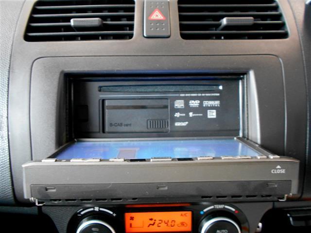 音楽を聞きながら楽しくドライブできるCD再生機能。DVDやフルセグ放送も視聴できます♪