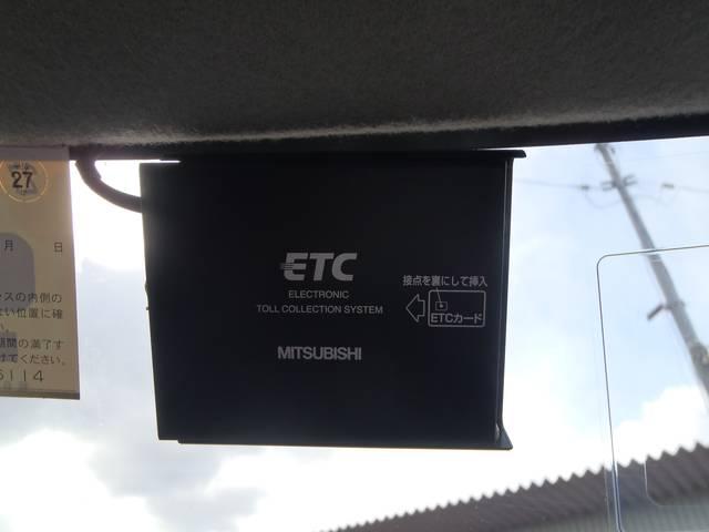 ETC車載機が付いていますので、高速道路もラクラク、スイスイです。