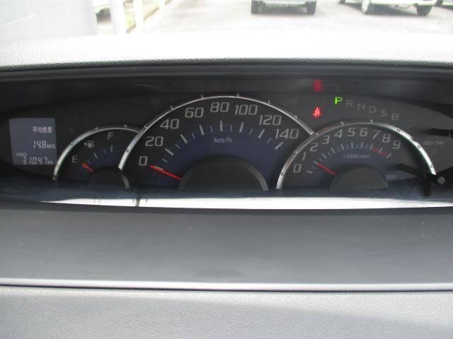 3連メーター。スピードメーター、タコメーター、燃料メーター。
