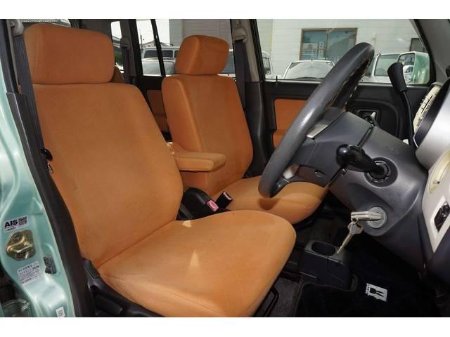 運転席シートリフター・アプリコットファブリックシート。