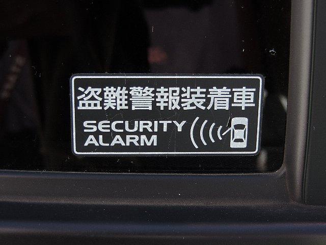 盗難アラーム装備。