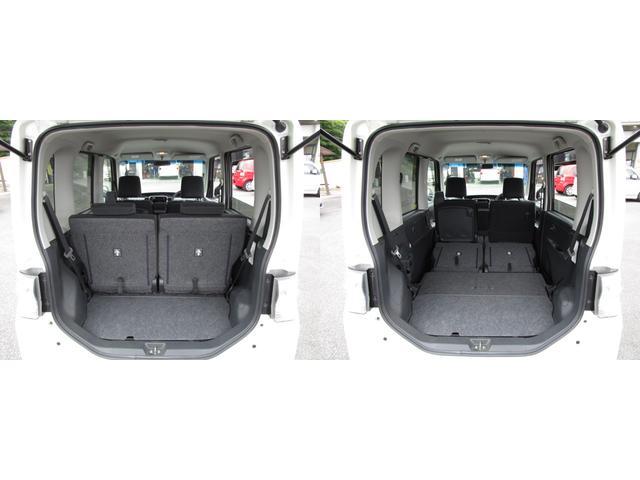 ラゲッジルーム リヤシートを左右可倒すれば、フラットな荷室を確保出来ます。