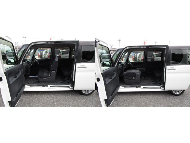 ピラーレス&低床設計で、後席への乗降も容易です。