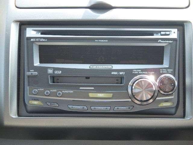 【CD/MD付オーディオ】CD/MD再生可能です!快適なドライブにかかせないですよね。