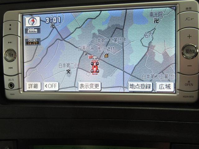 安心のトヨタ純正メモリーナビ。ワンセグ対応DVD再生可です。