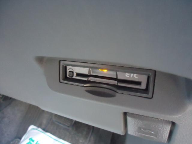 キレイにETC車載機が納まっています。