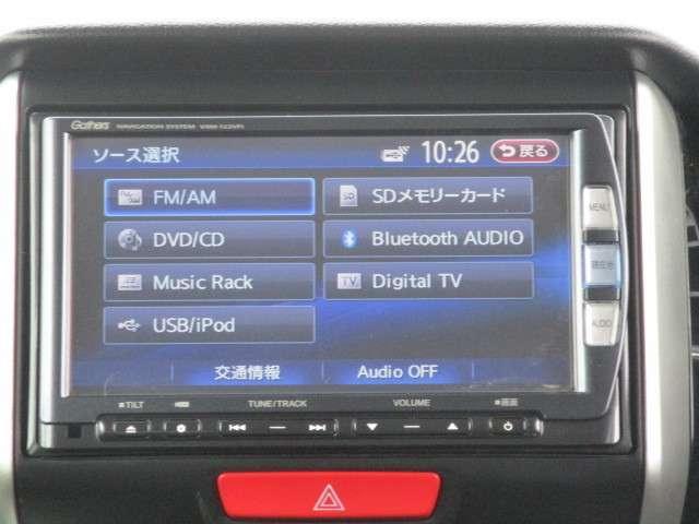 ナビ機能だけではありません!!フルセグTVやDVD・オーディオ機能も充実☆Bluetooth AudioやUSBケーブル接続でお手持ちの音楽も再生可能です♪ドライブがさらに快適に♪♪♪