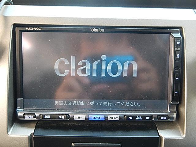 ☆ClarionHDDナビになります。地デジ対応となりますのでTVの視聴が可能になります☆