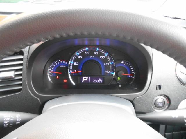 走行25,300km!! スッキリと見やすいスピードメーターですね♪