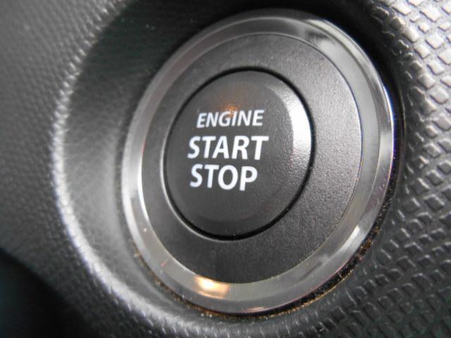 プッシュスタ−ト式!キーが車内にあれば、エンジンの始動・停止はブレーキを踏んでスイッチを押すだけ!キーを取り出す手間を省き、ワンプッシュでエンジンを操作するので、簡単スムーズです(^^)/