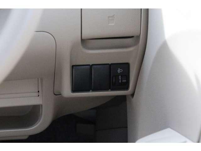 【ヘッドライトレベライザー】ヘッドライトの高さを調整できます!重い荷物を積んで車両後方が下がった時など、対向車が眩しくない様に調節してあげて下さいね♪