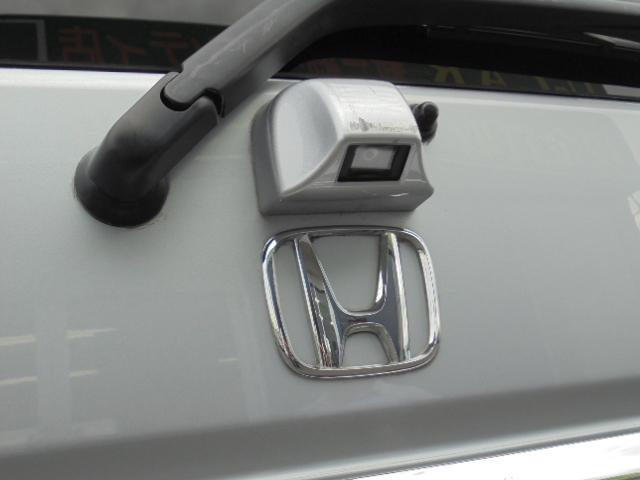 バックカメラ付なので大きな車体でも安心ですね^−^