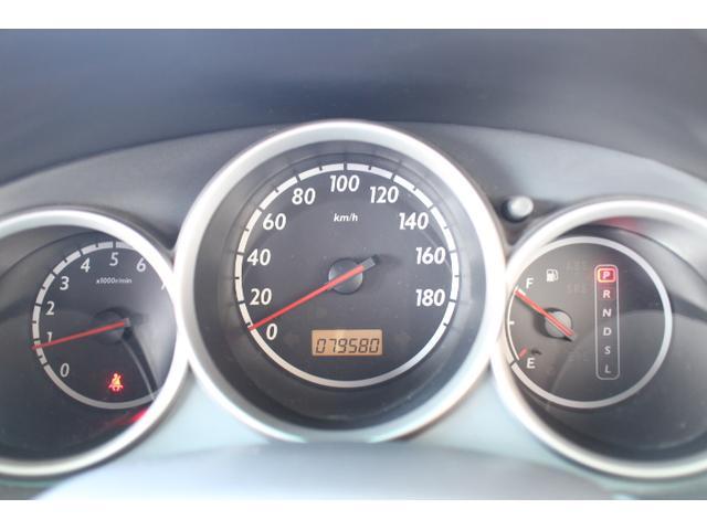 立体的なスピードメーターはシンプルで飽きの来なデザインです。