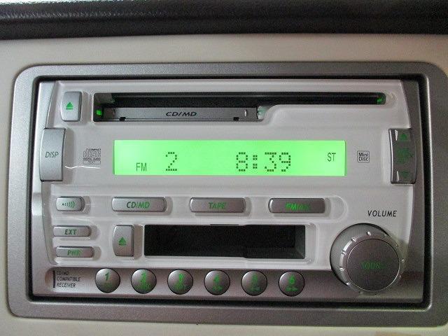 CDオーディオ付。お気に入りの音楽は眠気防止にも効果があるようです。