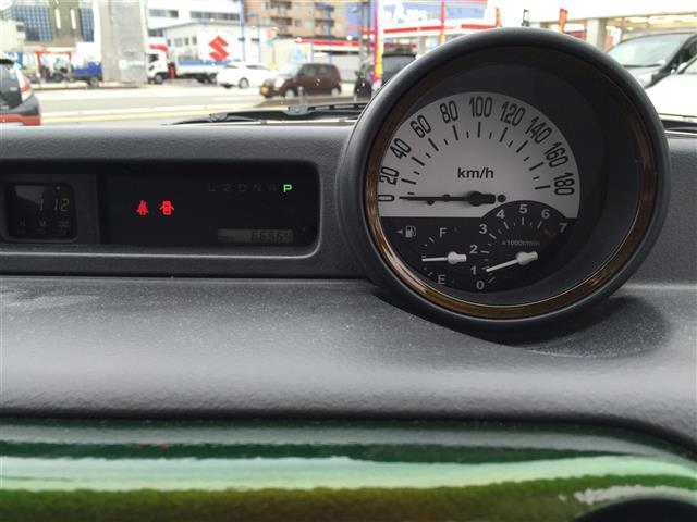 レトロ調のメータです!運転席からの眺めも十分ですので運転がしやすいお車です!