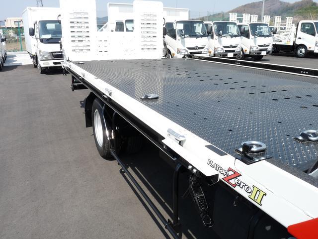 日野 デュトロ 極東製 2.9t 積載車 フラトップゼロII 開閉アオリ