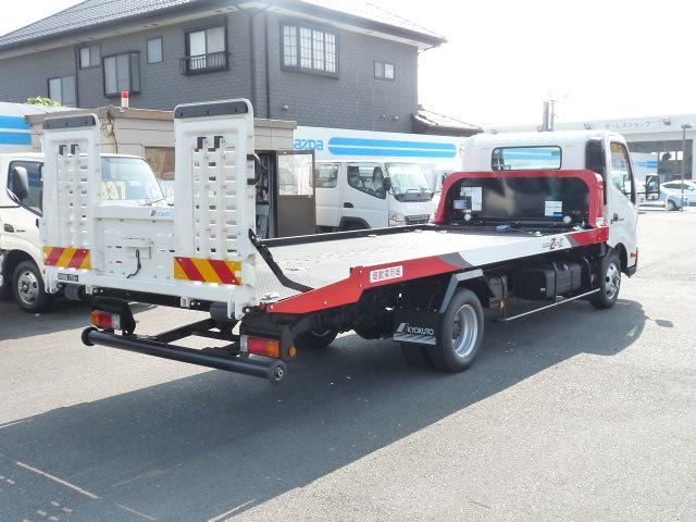 日野 デュトロ 極東製 3t積載車 フラトップII フルフラット 150PS