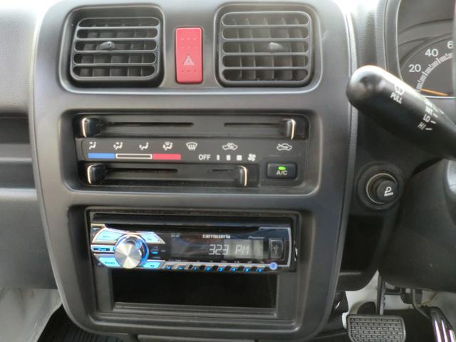 スズキ キャリイトラック KC4WD エアコン パワステ 社外ステレオスピーカー
