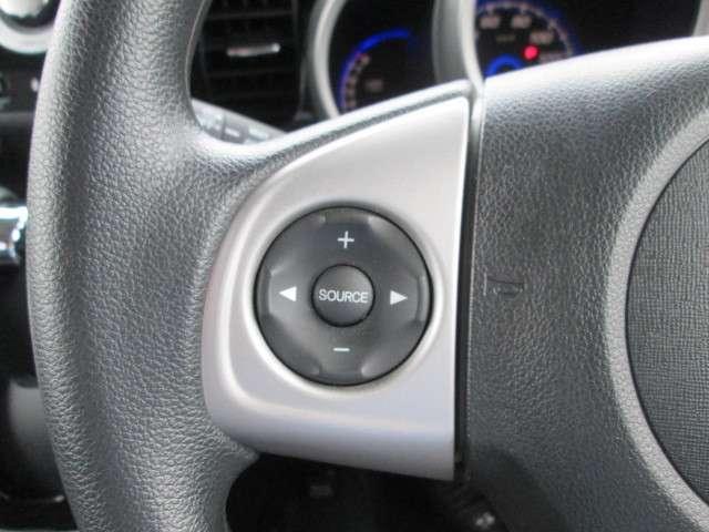 ハンドルにオーディオの操作スイッチが装備されています!ハンドルから手を離さずに操作できるのでとっても安全です!