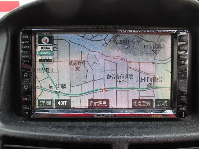 HDDナビを装備しています。遠出も、初めて行く場所も道に迷う心配なくスムーズに目的地まで行けるのでとっても便利です♪
