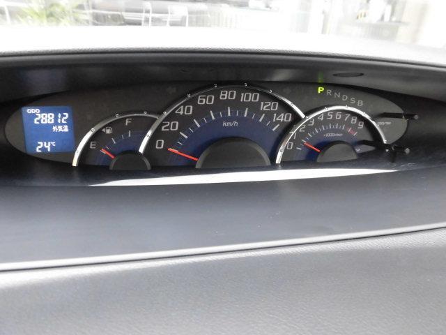 やや運転席寄りに配置することにより、高い視認性を実現したオシャレなメッキリング付きセンターメーター! 走行距離も28,812kmと少なめです!