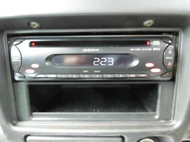 社外CDオーディオが装着されています