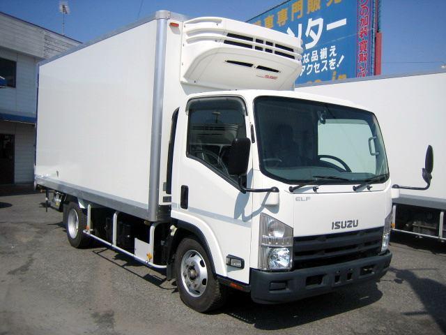 いすゞ エルフトラック 冷蔵冷凍車 低温冷凍車 ワイドロング冷凍車