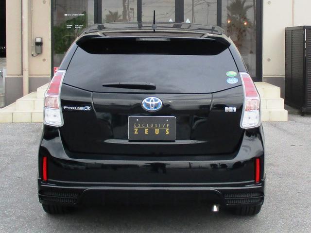 トヨタ プリウスアルファ S ZEUS新車コンプリート19AWローダウン LEDランプ