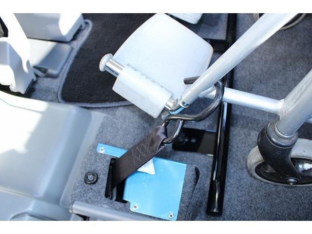 後退防止ベルトも付いてますので安心して乗車出来ます。