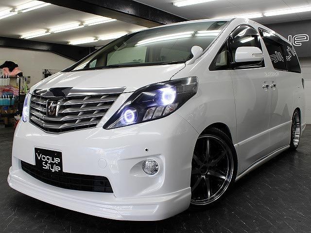 トヨタ アルファード 240S両側電動ドア地デジHDD新品エアロファイバーLED