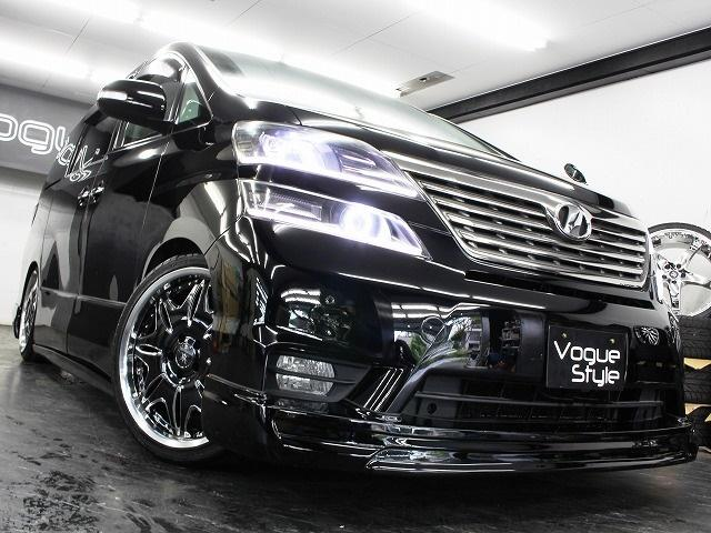 トヨタ ヴェルファイア Z電動ドア地デジHDDツインナビ新品エアロ4連イカリング