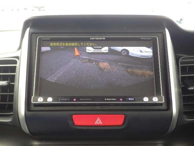 リアカメラ付きです。駐車の際、これがあれば運転に自信が無い方も安心です!一度使うと手放せない必須装備です!