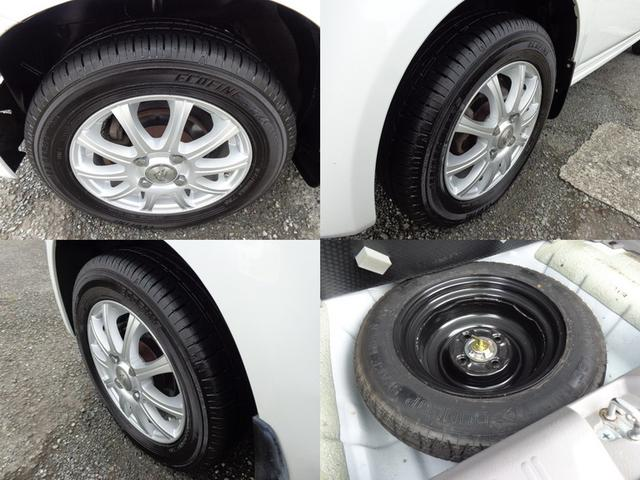 やっぱりアルミホイールは、足元がしっかり決まっていいですね!タイヤの溝もまだ充分にありますので、購入後も安心して乗れます。