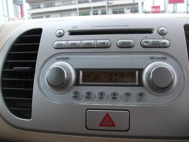純正CDオーディオ付きだから、スッキリしています