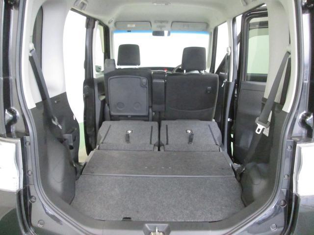 リヤシートを倒せば荷物が大きいときでも、多いときでも安心!