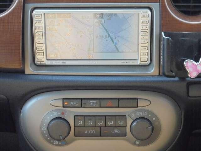 ダイハツ ミラジーノ プレミアムX 社外ナビ ハーフレザー キーレス ABS