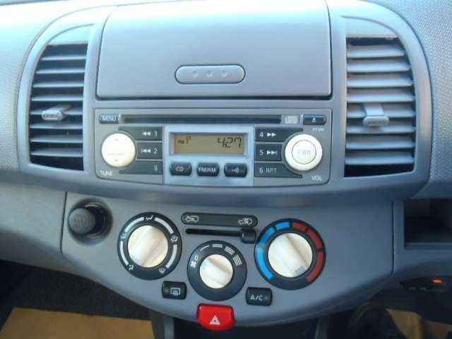 CD一体チューナーラジオが装備!エアコンのスイッチがおしゃれ~~
