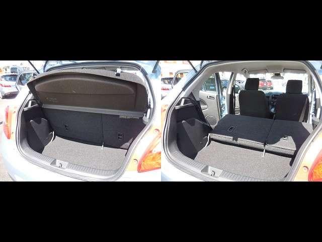 マツダのデミオは、前後席ともに広くてゆとりの室内空間です。それだけでなく、5人フル乗車の時でも全員分の荷物をしっかり積むことができる、十分なラゲッジ容量を確保できていますよ。