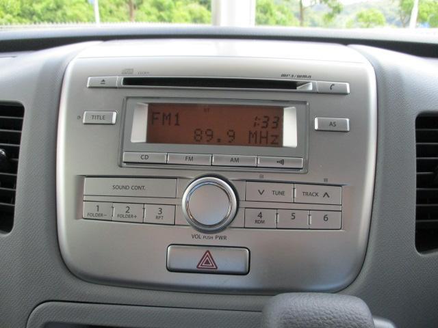 操作性に優れた純正CDオーディオが装備されております