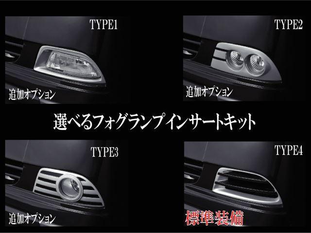 追加オプションの選べるフォグランプインサートキット!詳しくはウェブサイトにてご覧下さいhttp://shinko−net.co.jp/写真はサンプルデモカーです!